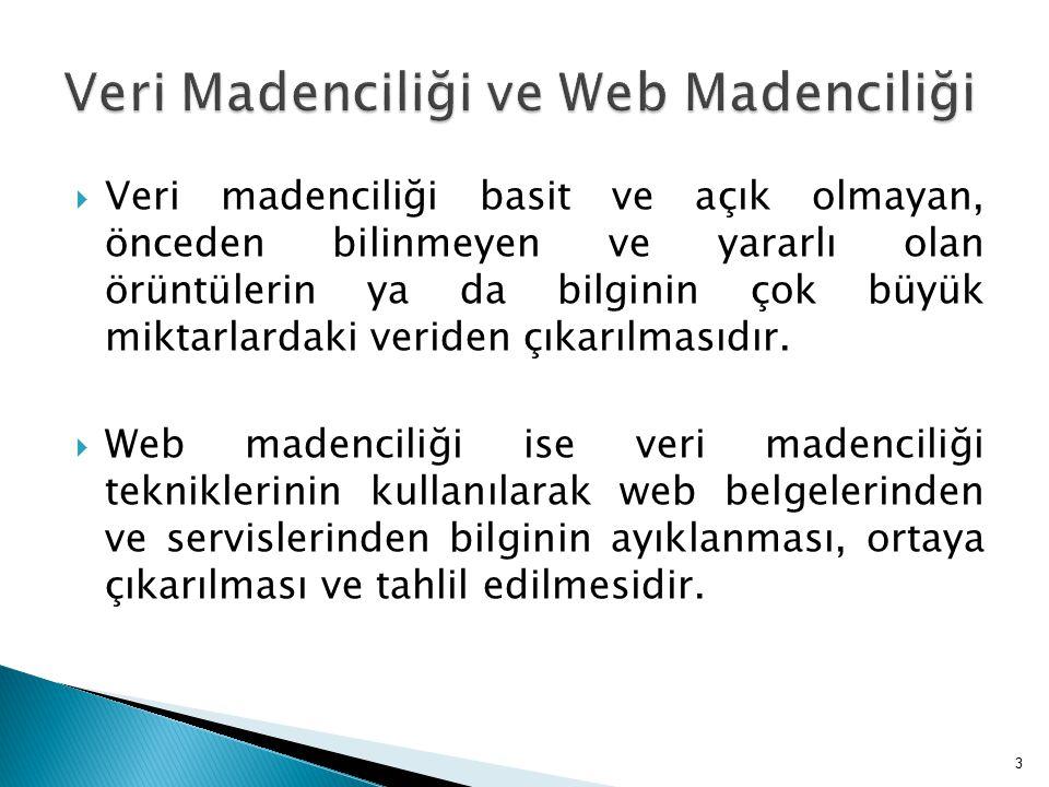 Veri Madenciliği ve Web Madenciliği