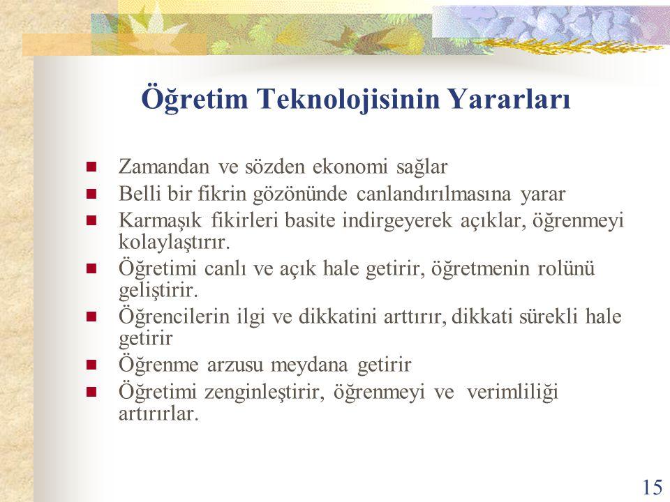 Öğretim Teknolojisinin Yararları