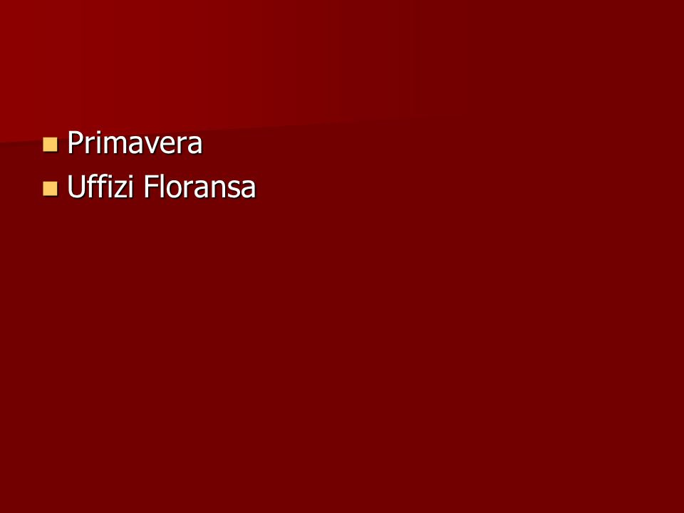 Primavera Uffizi Floransa