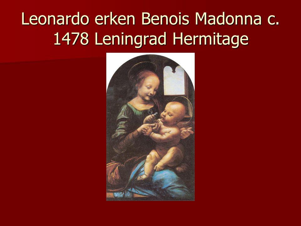 Leonardo erken Benois Madonna c. 1478 Leningrad Hermitage