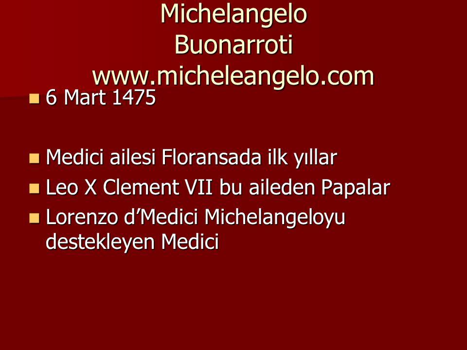 Michelangelo Buonarroti www.micheleangelo.com