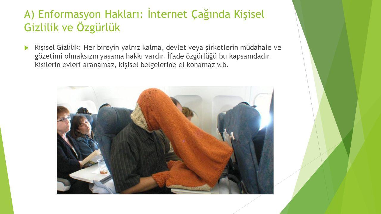 A) Enformasyon Hakları: İnternet Çağında Kişisel Gizlilik ve Özgürlük
