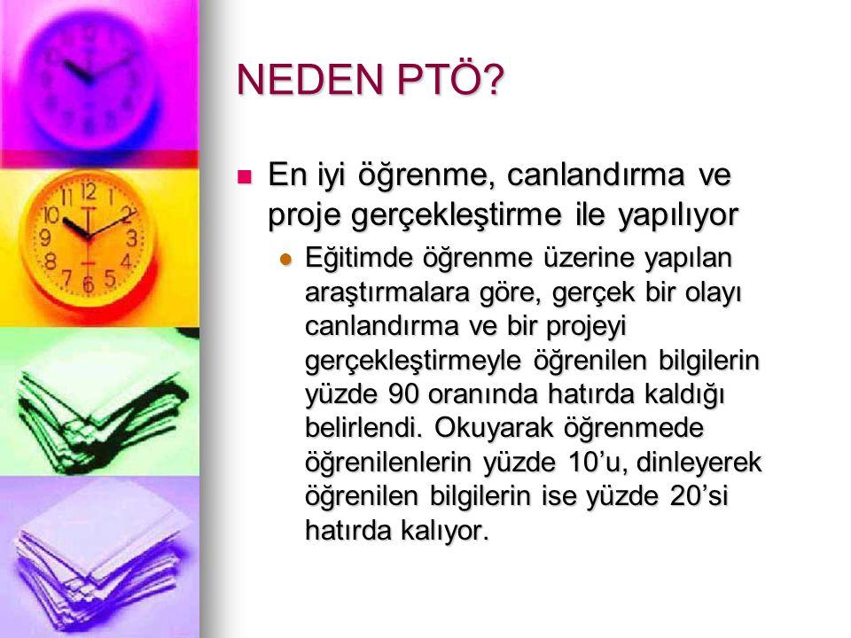 NEDEN PTÖ En iyi öğrenme, canlandırma ve proje gerçekleştirme ile yapılıyor.