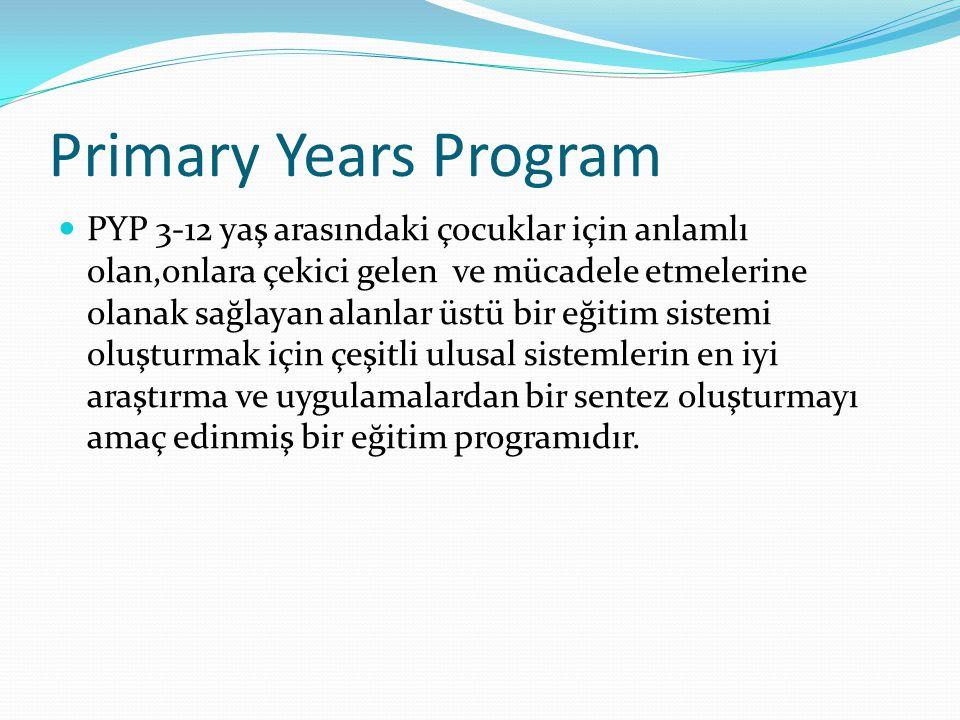 Primary Years Program