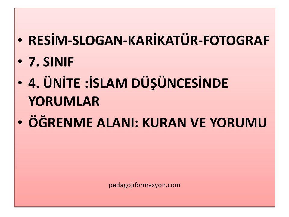 RESİM-SLOGAN-KARİKATÜR-FOTOGRAF 7. SINIF