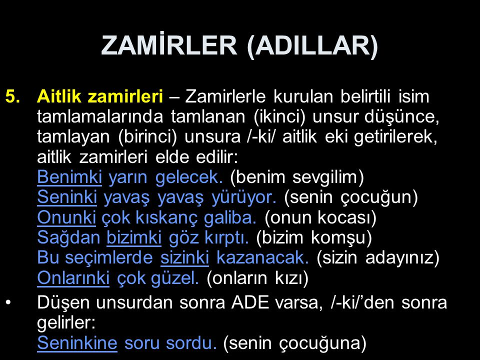 ZAMİRLER (ADILLAR)