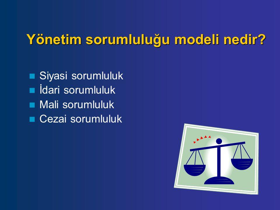 Yönetim sorumluluğu modeli nedir