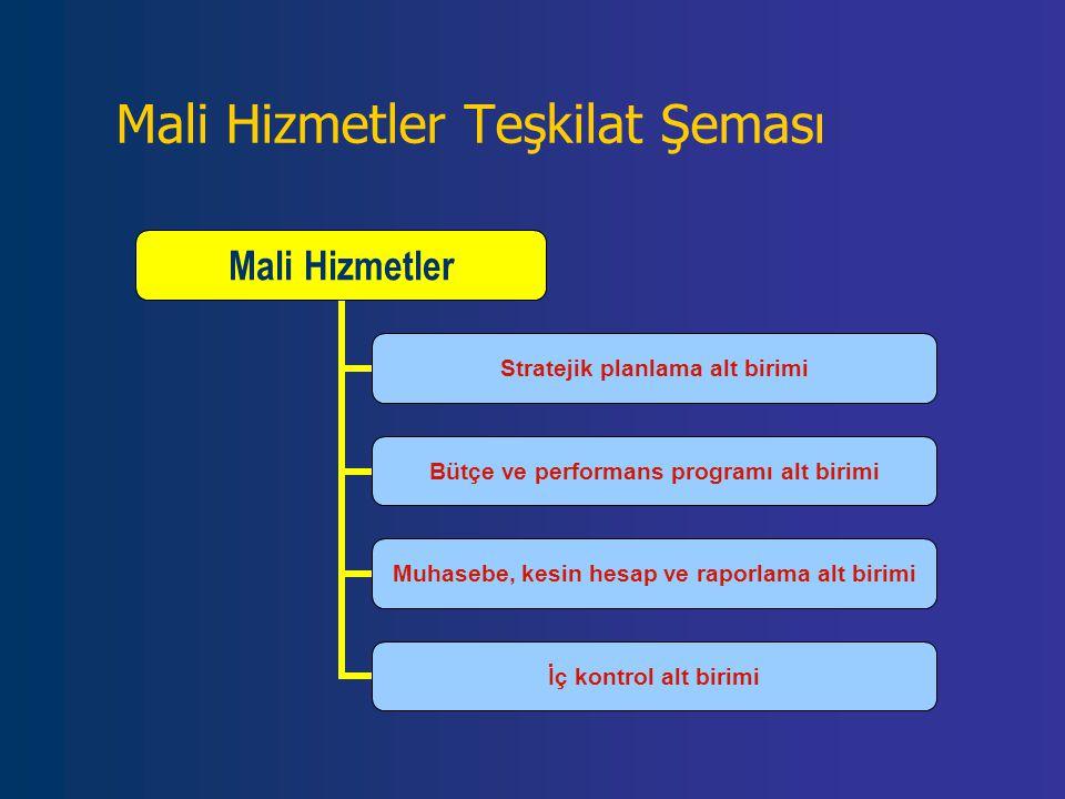 Mali Hizmetler Teşkilat Şeması