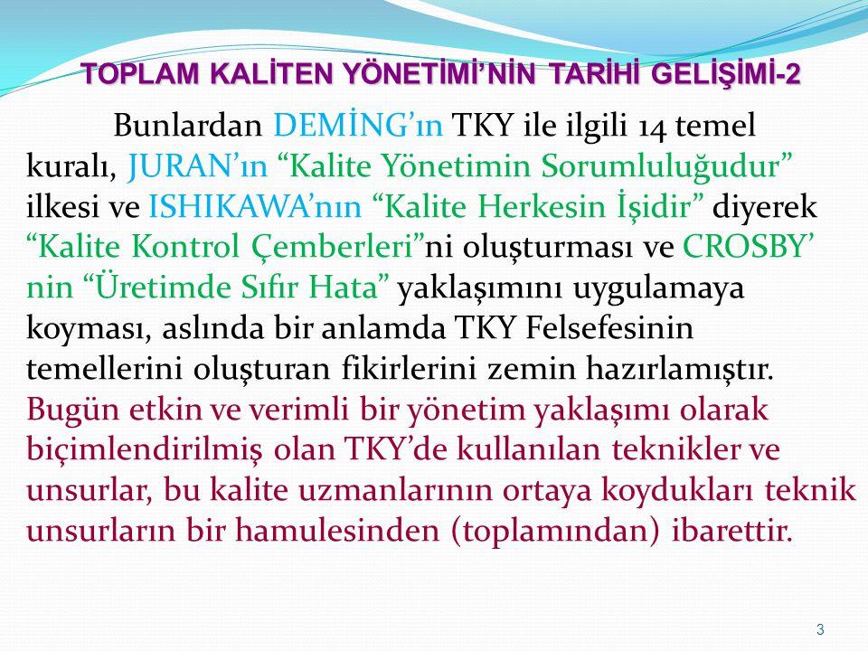 TOPLAM KALİTEN YÖNETİMİ'NİN TARİHİ GELİŞİMİ-2