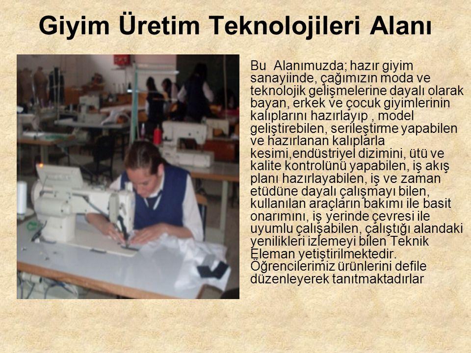 Giyim Üretim Teknolojileri Alanı
