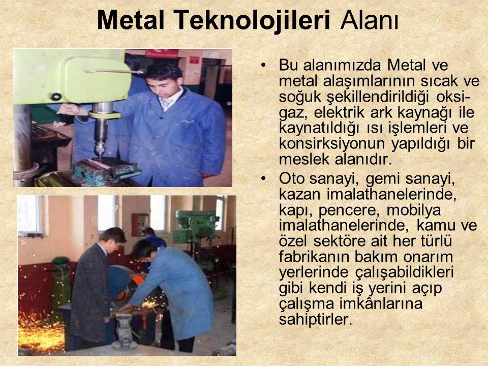 Metal Teknolojileri Alanı