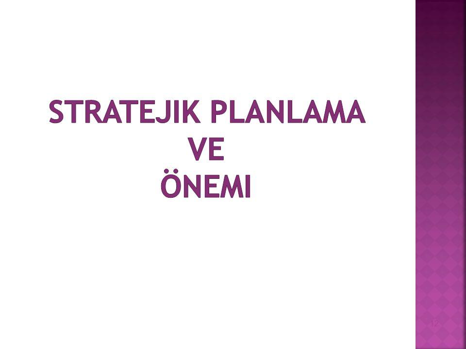 Stratejik Planlama ve Önemi