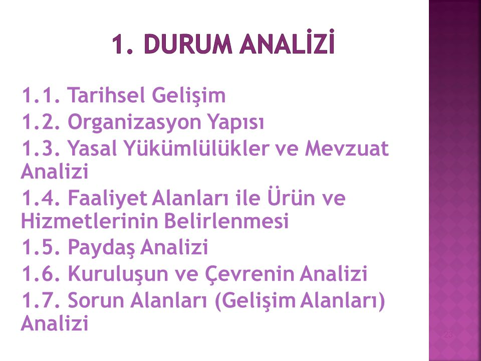 1. DURUM ANALİZİ