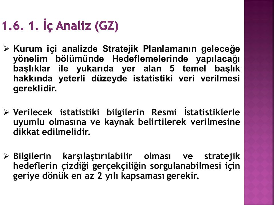 1.6. 1. İç Analiz (GZ)