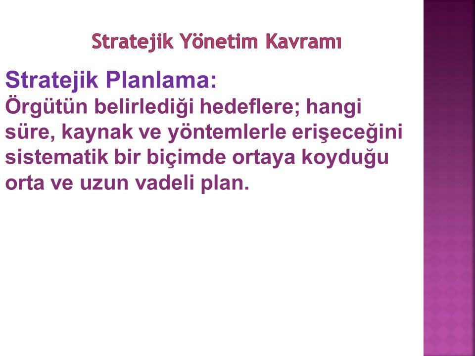 Stratejik Yönetim Kavramı