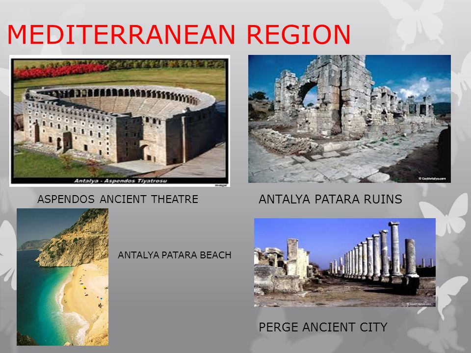 MEDITERRANEAN REGION ANTALYA PATARA RUINS PERGE ANCIENT CITY