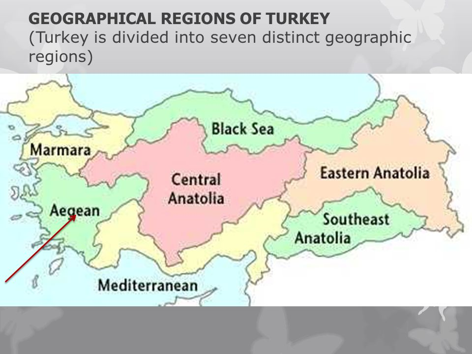 GEOGRAPHICAL REGIONS OF TURKEY (Turkey is divided into seven distinct geographic regions)