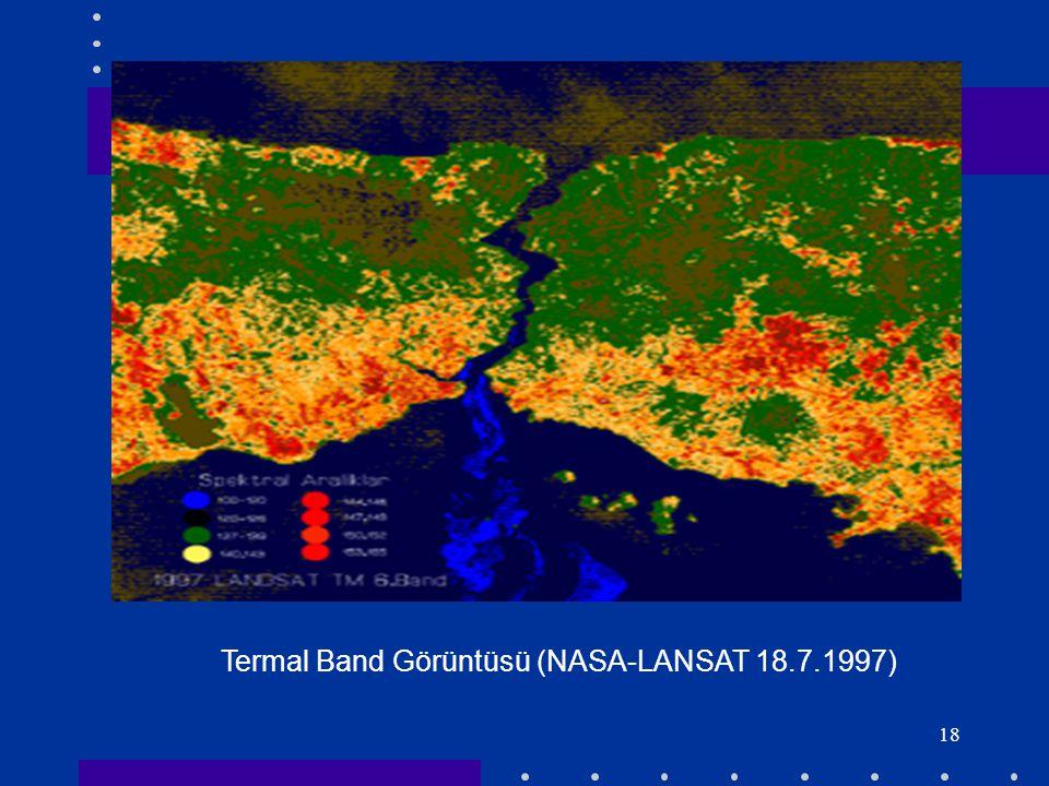 Termal Band Görüntüsü (NASA-LANSAT 18.7.1997)