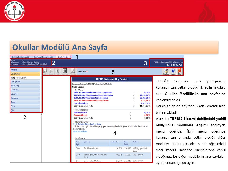 Okullar Modülü Ana Sayfa