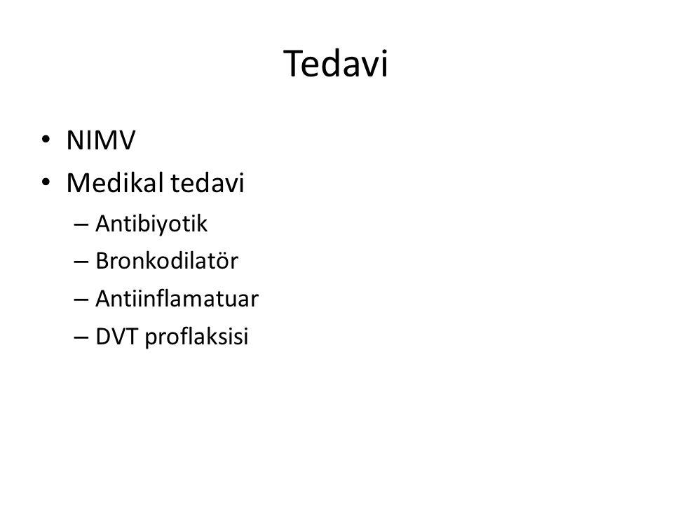 Tedavi NIMV Medikal tedavi Antibiyotik Bronkodilatör Antiinflamatuar