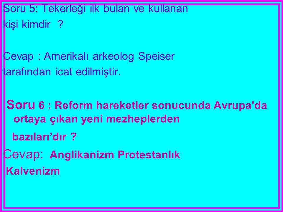 Cevap: Anglikanizm Protestanlık