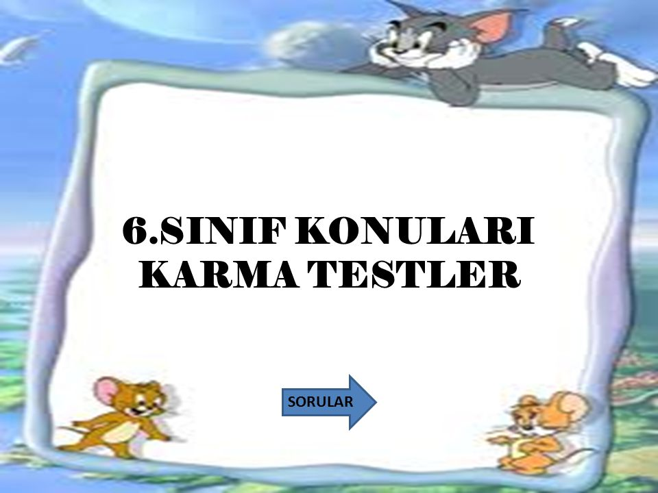 6.SINIF KONULARI KARMA TESTLER