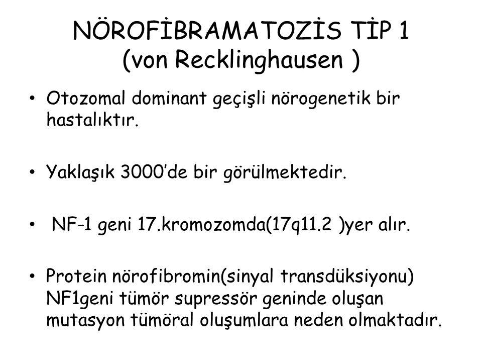 NÖROFİBRAMATOZİS TİP 1 (von Recklinghausen )