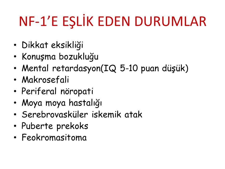 NF-1'E EŞLİK EDEN DURUMLAR