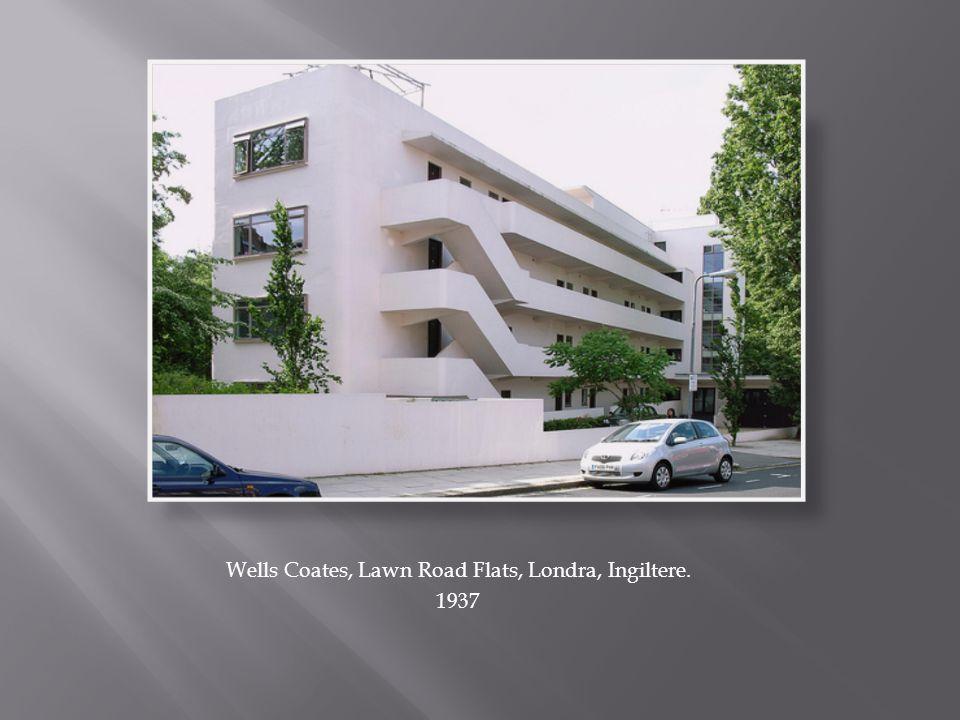 Wells Coates, Lawn Road Flats, Londra, Ingiltere.