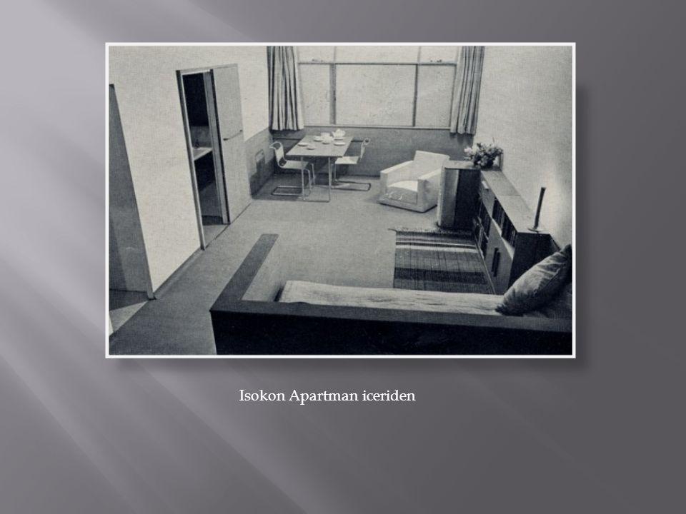 Isokon Apartman iceriden