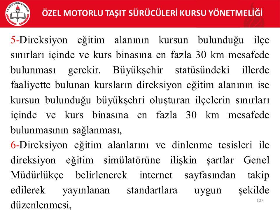 ÖZEL MOTORLU TAŞIT SÜRÜCÜLERİ KURSU YÖNETMELİĞİ