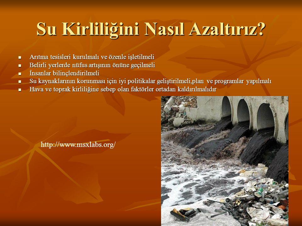 Su Kirliliğini Nasıl Azaltırız