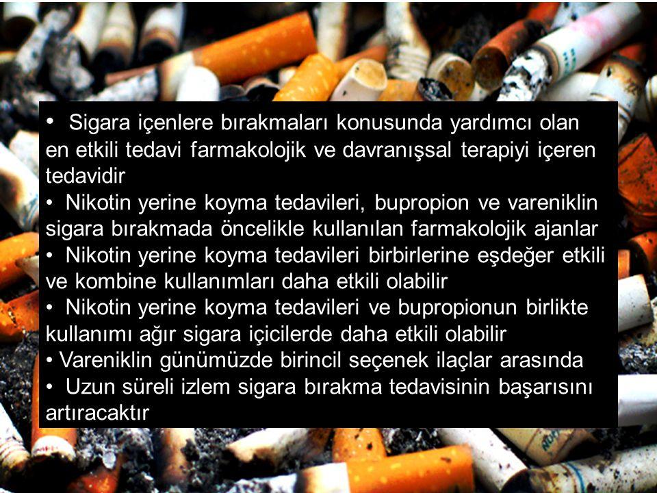 Sigara içenlere bırakmaları konusunda yardımcı olan en etkili tedavi farmakolojik ve davranışsal terapiyi içeren tedavidir
