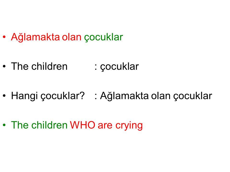 Ağlamakta olan çocuklar