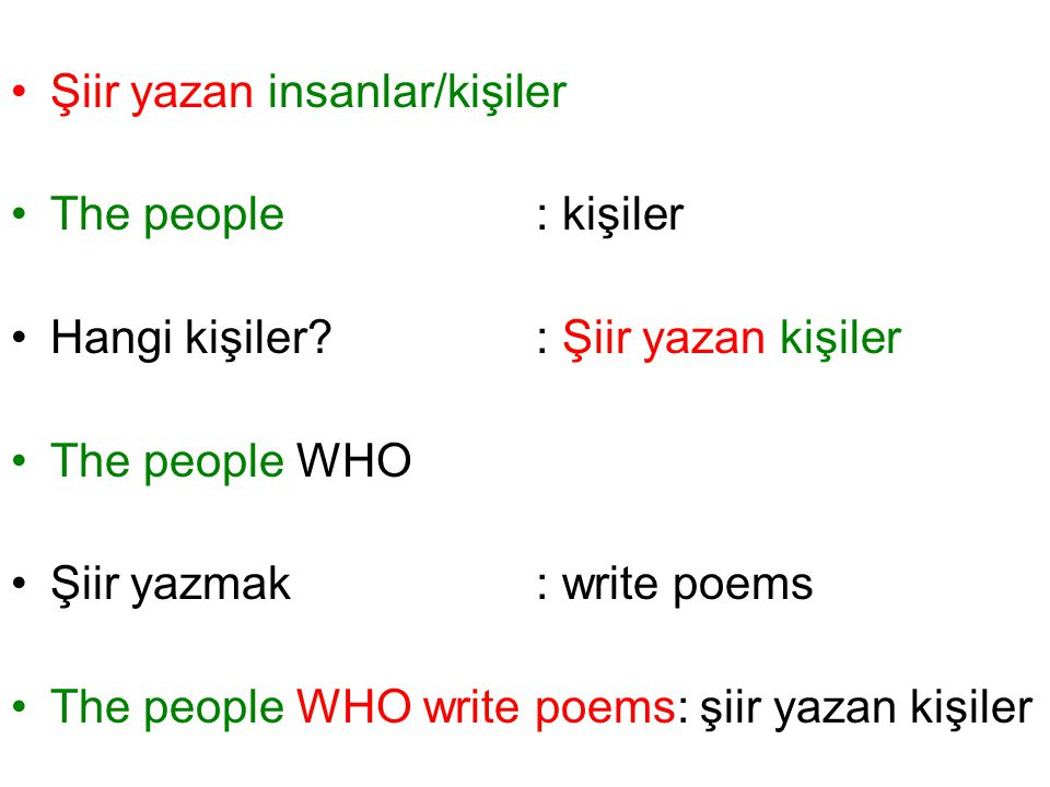 Şiir yazan insanlar/kişiler