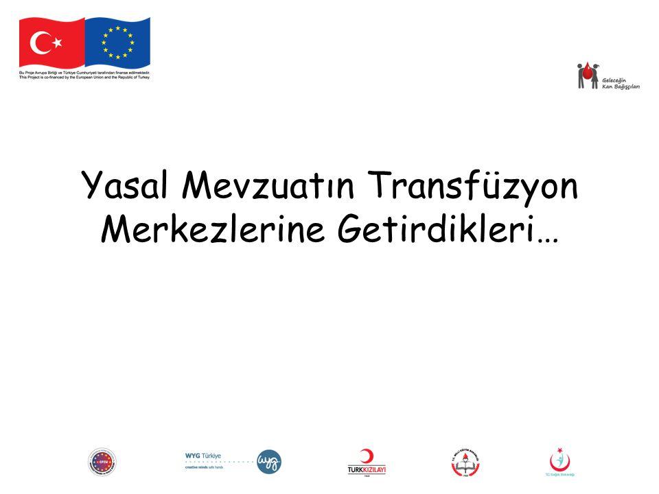 Yasal Mevzuatın Transfüzyon Merkezlerine Getirdikleri…
