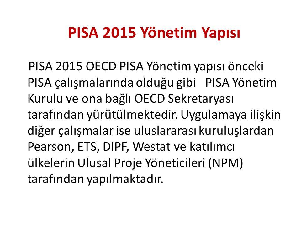 PISA 2015 Yönetim Yapısı