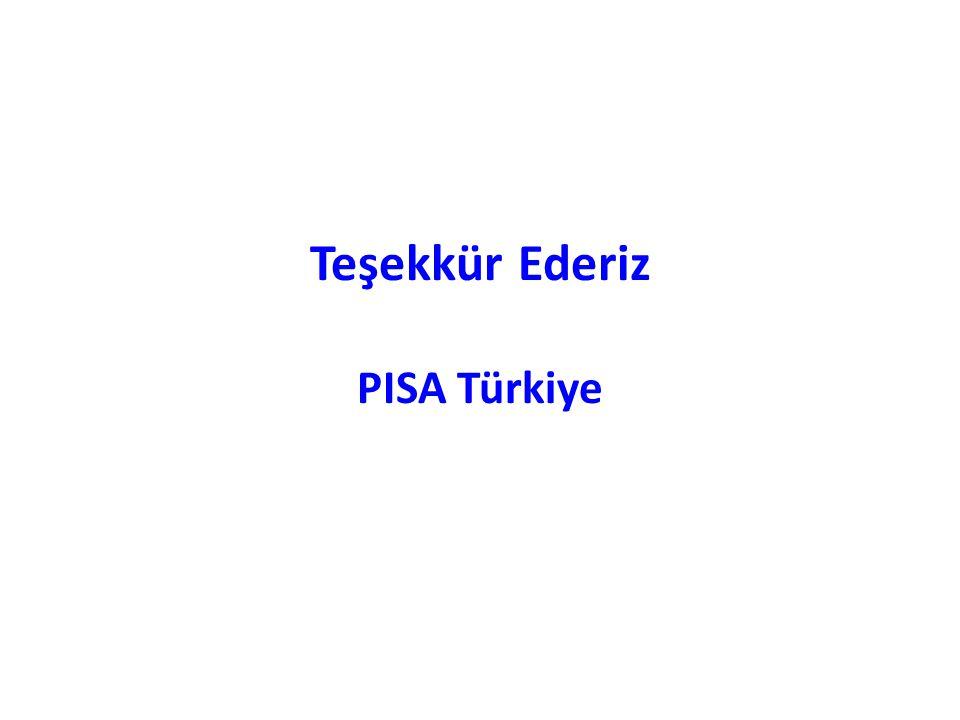 Teşekkür Ederiz PISA Türkiye