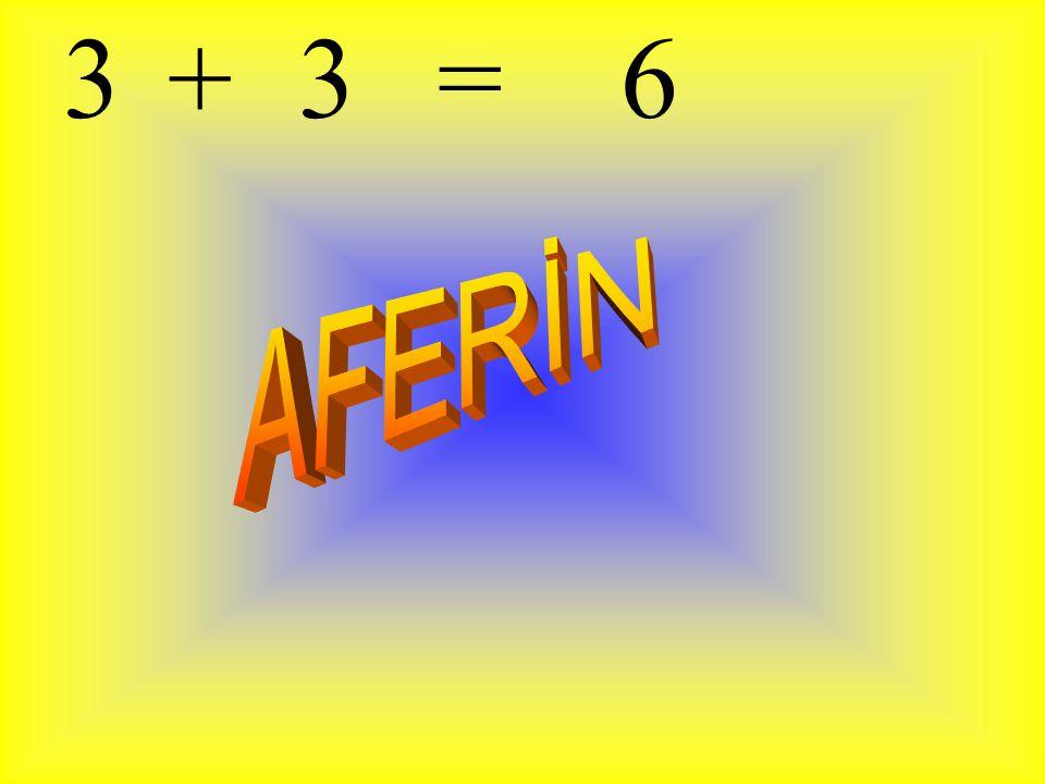 3 + 3 = 6 AFERİN