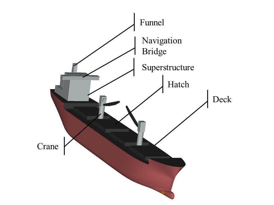 Funnel Navigation Bridge Superstructure Hatch Deck Crane
