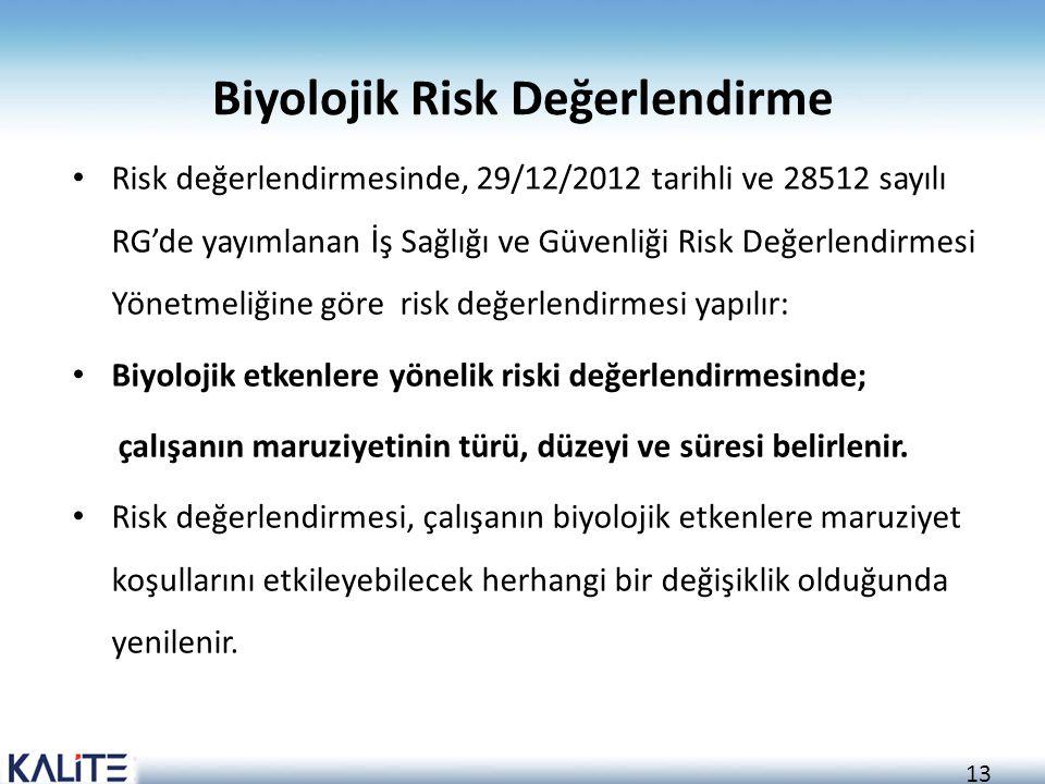 Biyolojik Risk Değerlendirme
