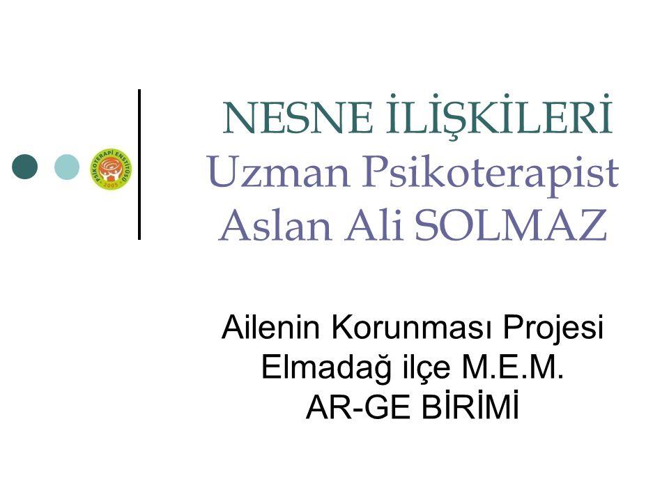 Uzman Psikoterapist Aslan Ali SOLMAZ