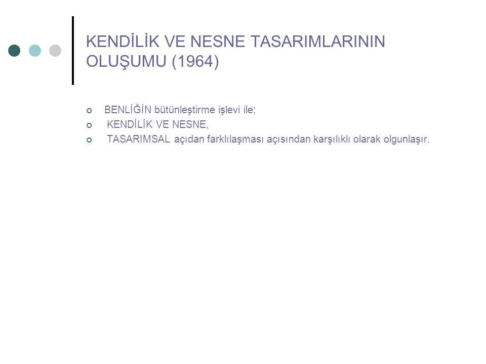 KENDİLİK VE NESNE TASARIMLARININ OLUŞUMU (1964)
