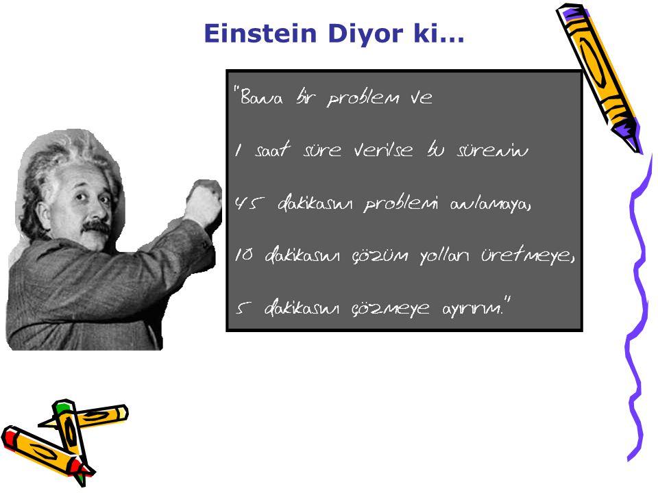 Einstein Diyor ki… 38
