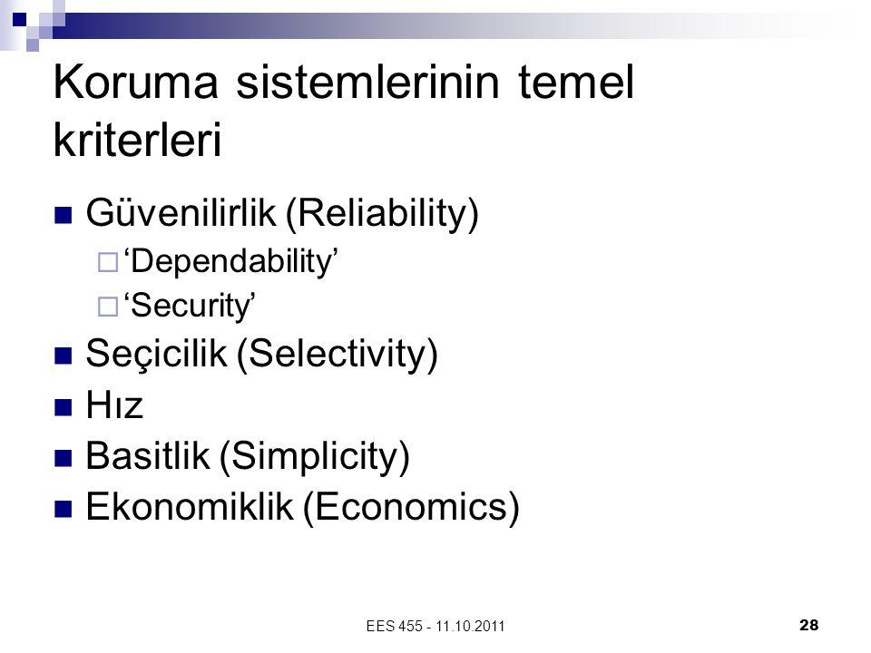 Koruma sistemlerinin temel kriterleri