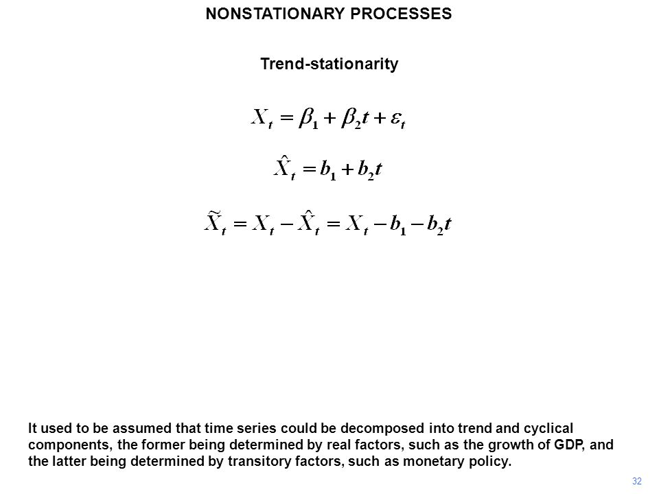 NONSTATIONARY PROCESSES