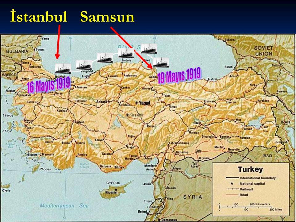 İstanbul Samsun 19 Mayıs 1919 16 Mayıs 1919