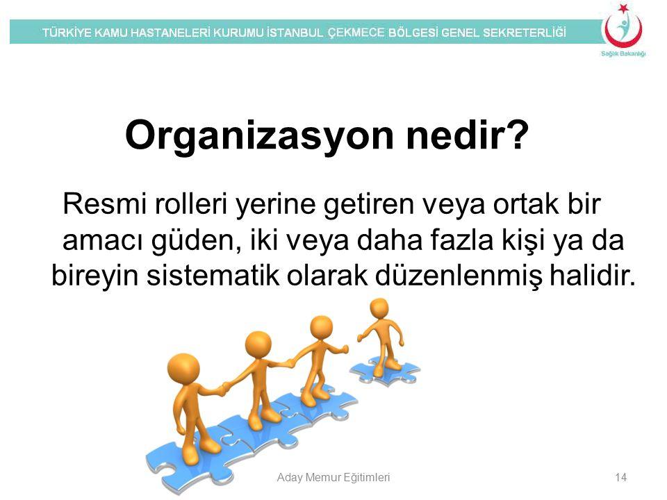 Organizasyon nedir