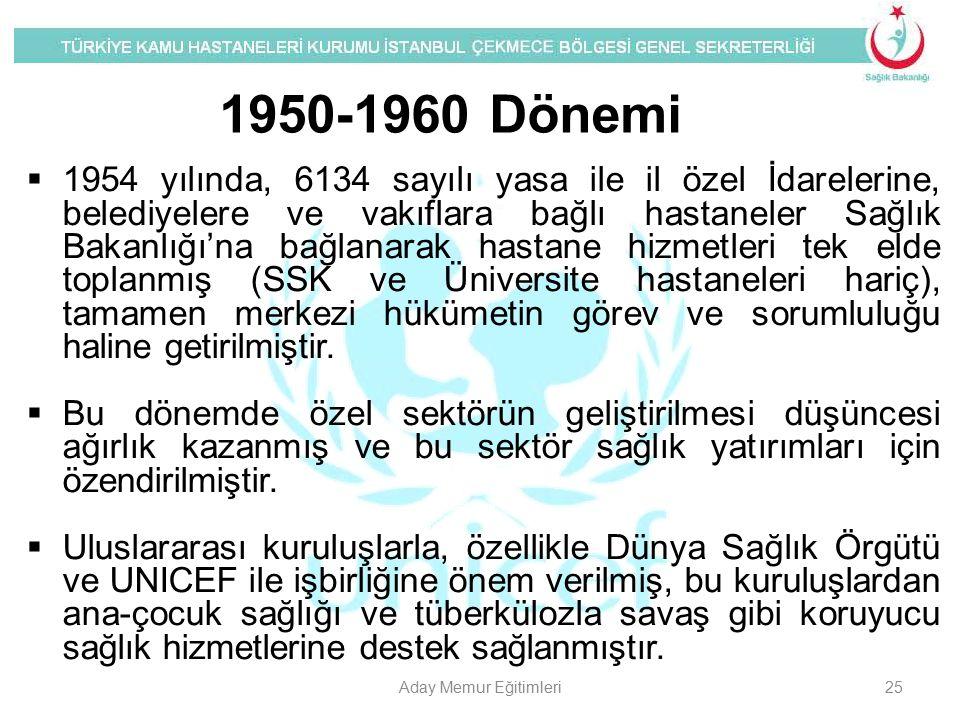 1950-1960 Dönemi