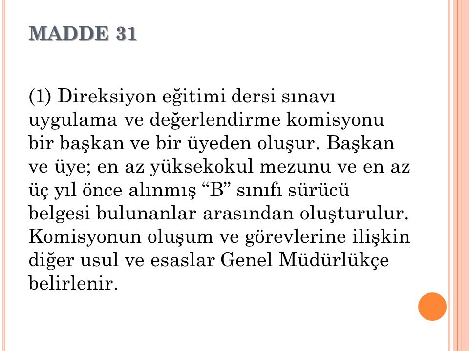 MADDE 31